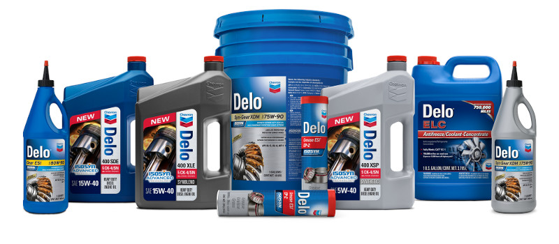 Lineup of Chevron Delo Products