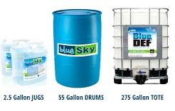 Blue Sky Diesel Exhaust Fluid (DEF) 1 Pallet 40 2-2.5 gallon jugs 5 gallon cases product photo