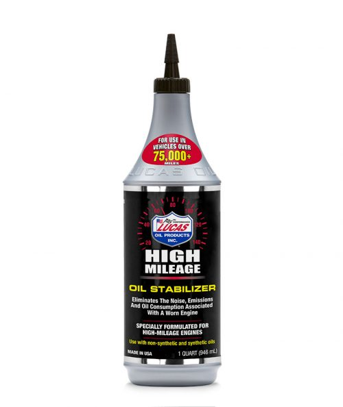 Lucas Oil High Mileage Oil Stabilizer (12 bottles – 1 qt ea.) product photo