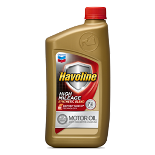 CHEVRON HAVOLINE HIGH MILEAGE SYN BLEND MOTOR OIL 5W-20 (6 1qt case) product photo