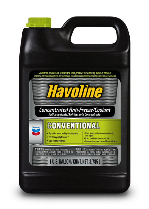 CHEVRON HAVOLINE CONVENTIONAL ANTIFREEZE/COOLANT CONCENTRATE (6 bottles – 1 gal) product photo