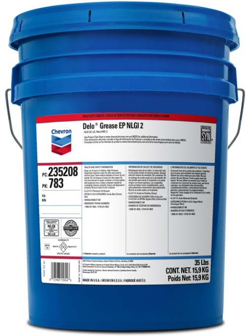 CHEVRON DELO GREASE EP NLGI 2 (35 lb pail) product photo