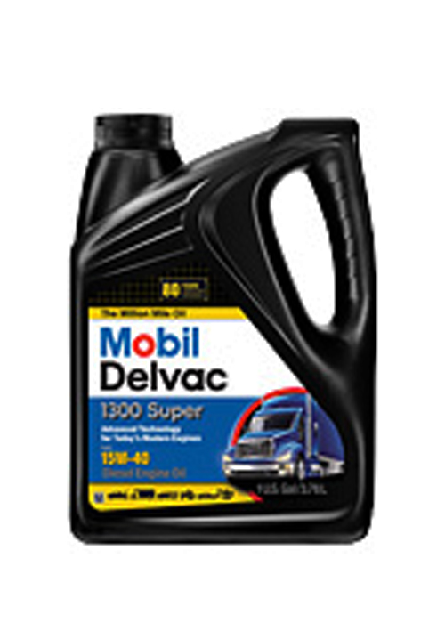 MOBIL DELVAC 1300 SUPER 15W-40 (4 bottles – 1 gal ea) product photo