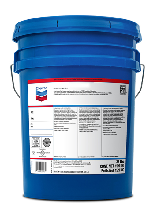 CHEVRON DELO ESI HEAVY DUTY MOLY 3% EP 1 (35 lb pail) product photo